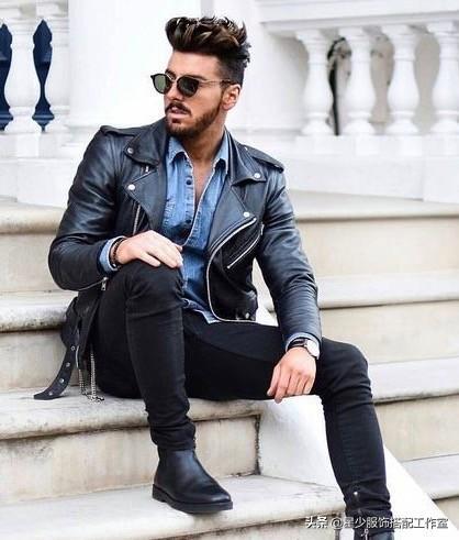 """男人秋天想每日穿新鲜?皮夹克的""""一衣多搭""""是关键"""
